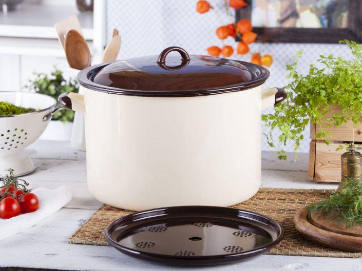 Garnek do gotowania słoików z pokrywą – pojemność 13,6l, średnica 30cm