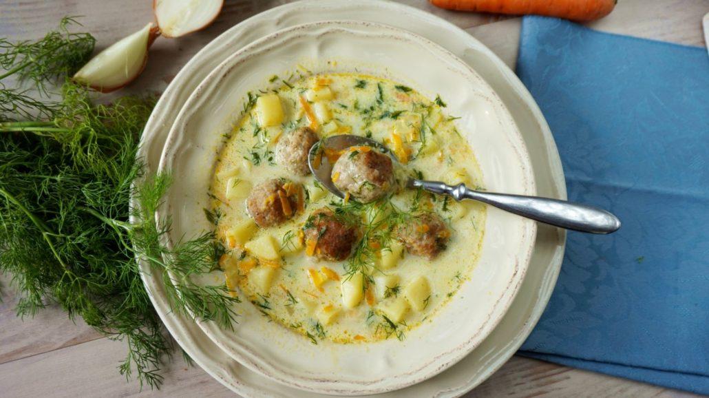 Zupa koperkowa z klopsikami3