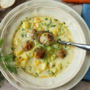 Zupa koperkowa z klopsikami3 180x180 - Zupa koperkowa z klopsikami